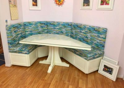 After - Custom made table and banquette