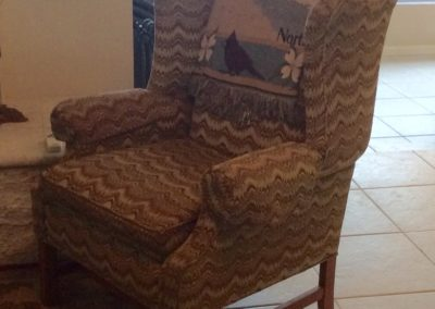 Before - Drab, unexciting wing chair