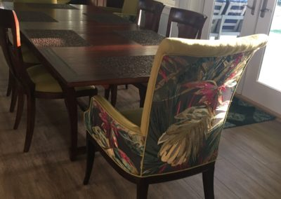 After - Tropical dining chairs